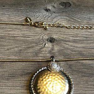NWOT Chico's Gold Silver Reversible Necklace